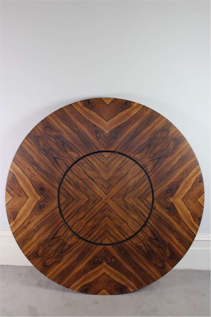 Merrow Associates circular Rosewood dining table with lazy  : 126MP1 from www.artfurniture.uk size 683 x 1024 jpeg 52kB