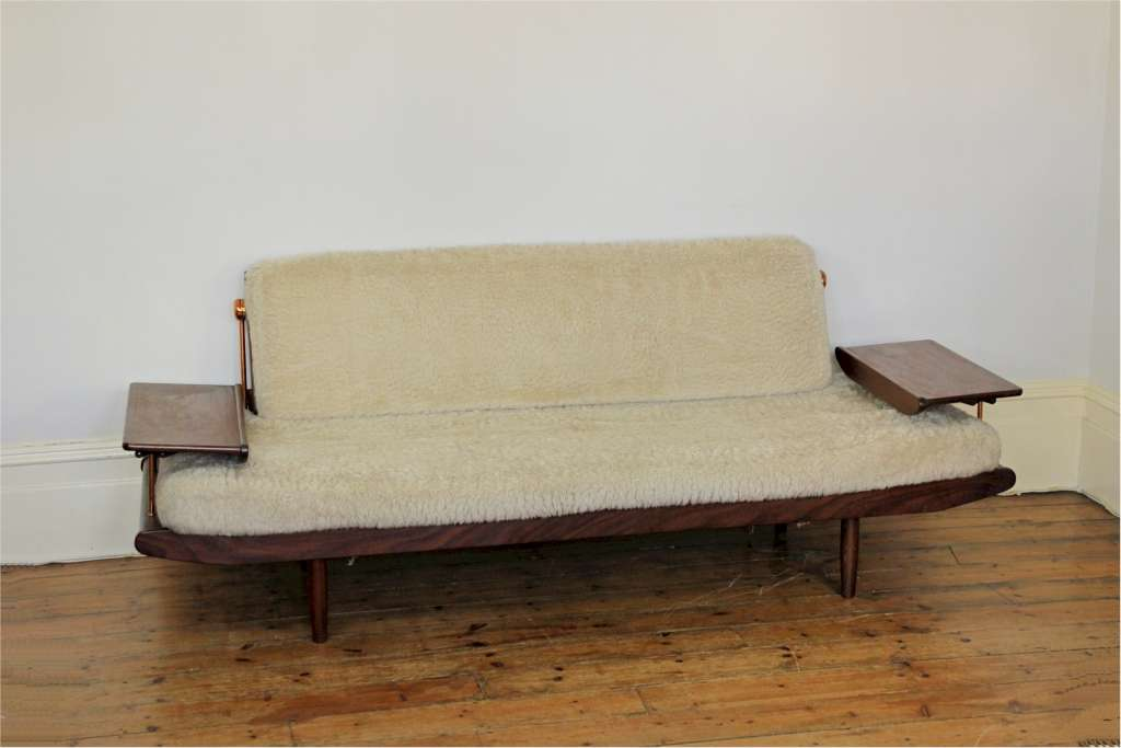 Danish Style Mid Century Sofa Bed Produced In The Early