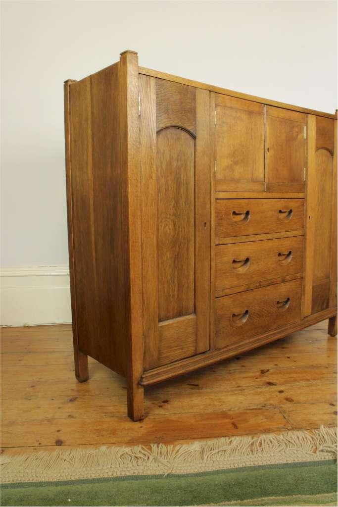 arts and crafts oak compactum storage art furniture. Black Bedroom Furniture Sets. Home Design Ideas