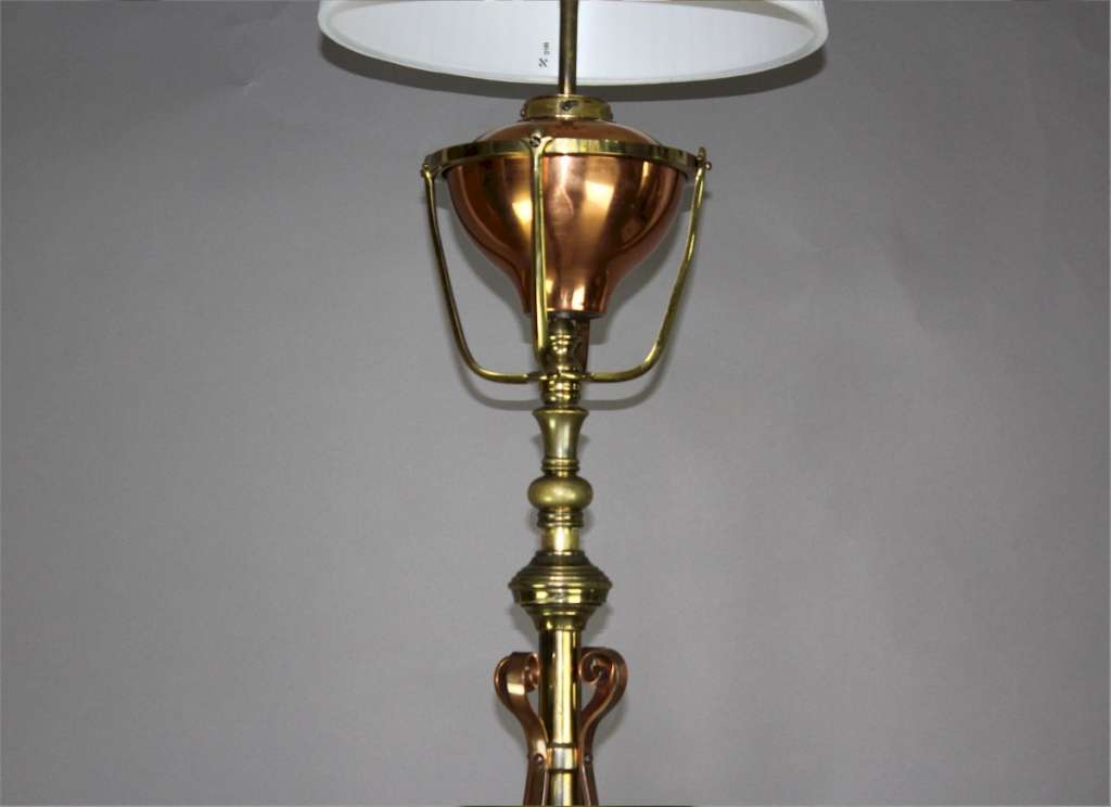 W A S Benson Arts And Crafts Floor Lamp C1900