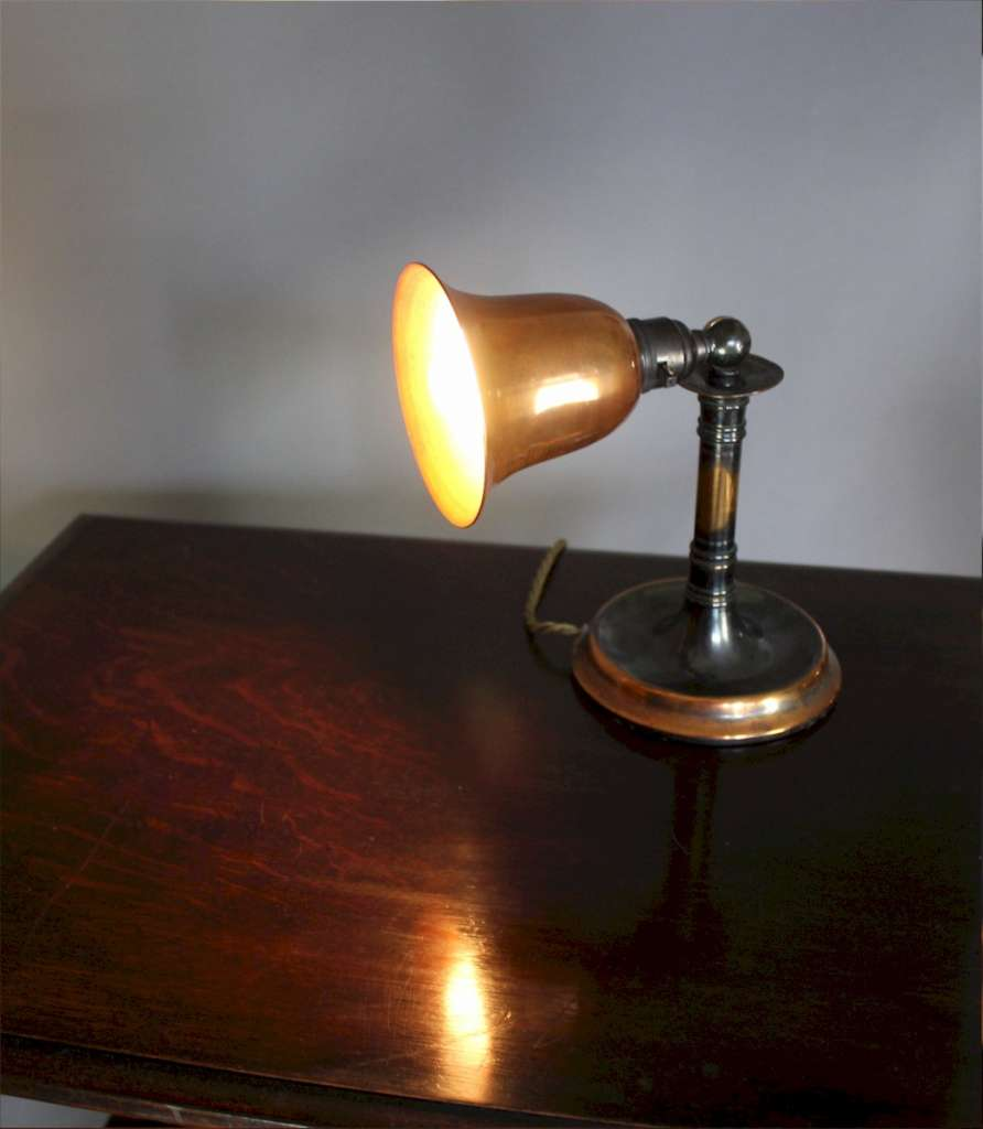 Copper Edwardian Adjustable Table Lamp Lighting Art Furniture