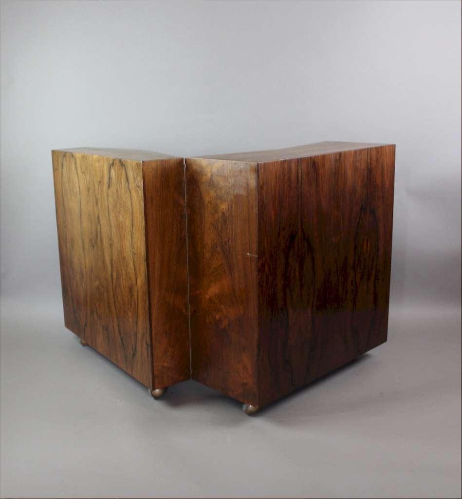 Danish Rosewood Mid Century Folding Bar Cocktail Cabinet Mid Century Modern Art Furniture