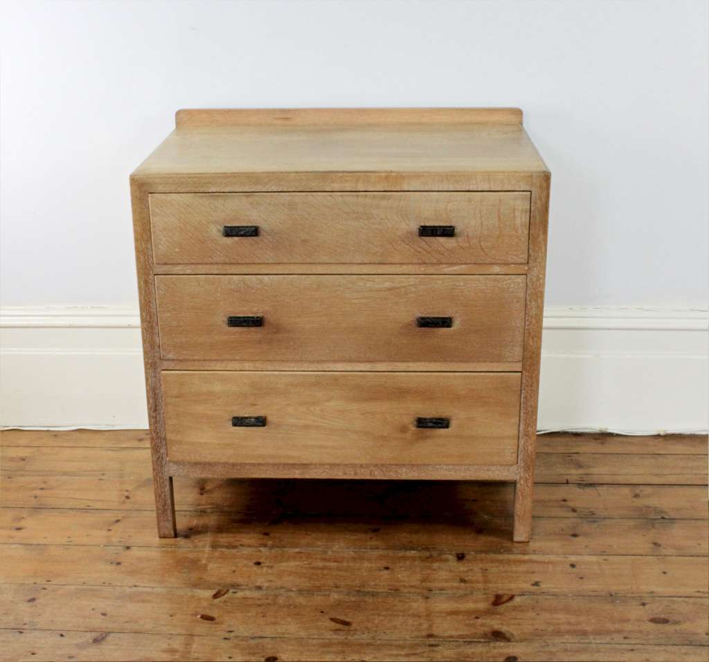 Heals Limed Oak Chest Of Three Drawers C1930 S Storage