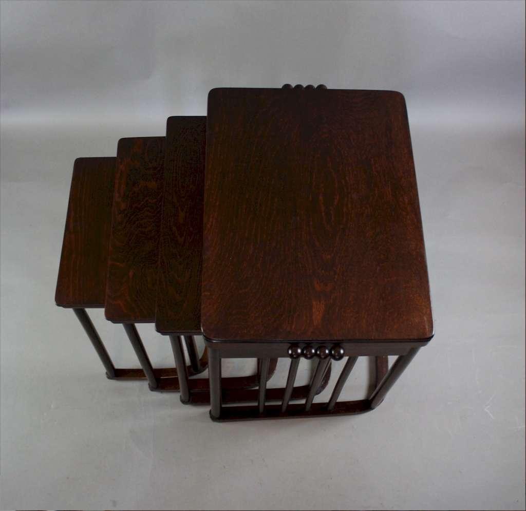 Josef Hoffmann Nest Of Four Tables By JJKohn C1900