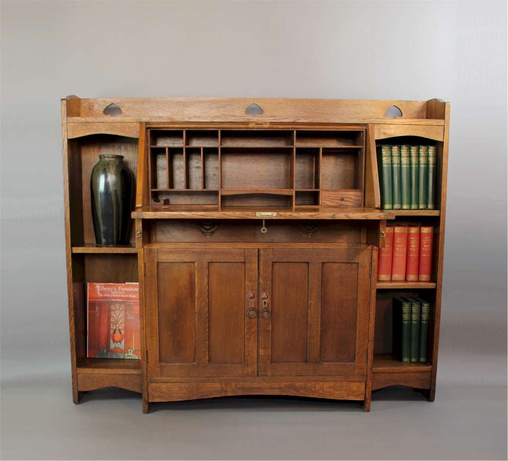 Arts And Crafts Oak Bureau