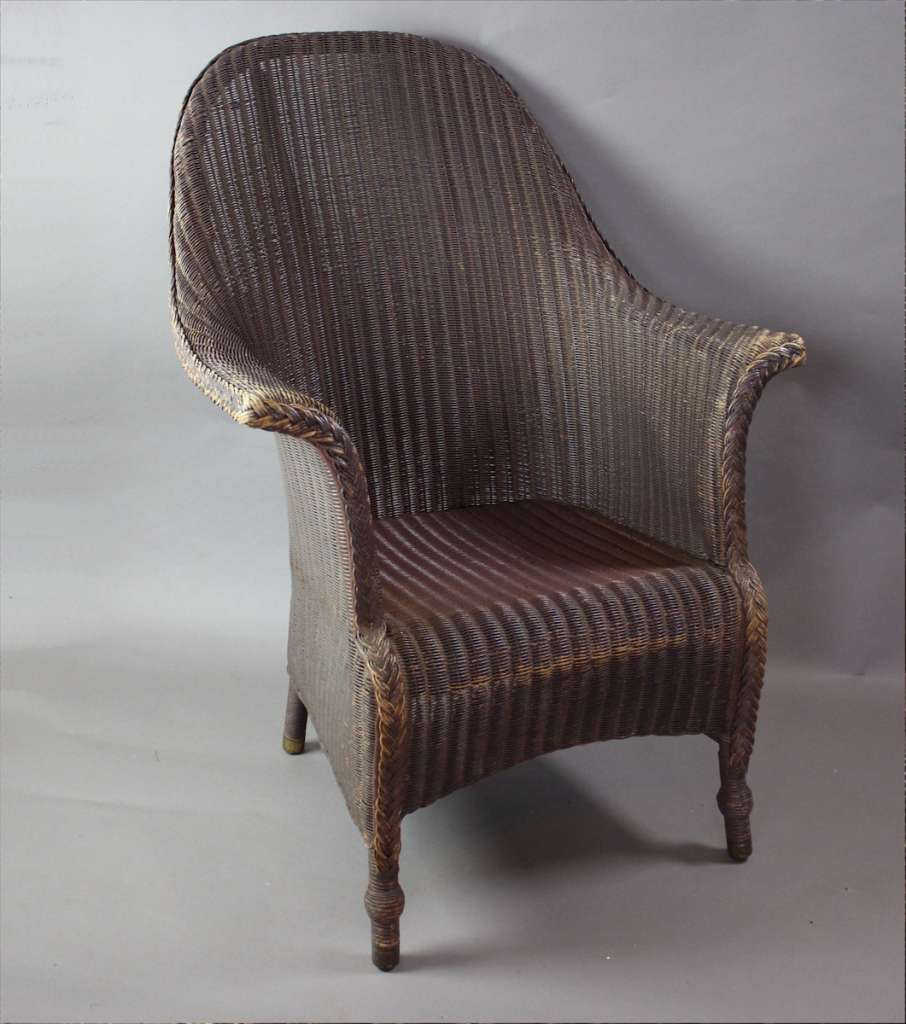 large original lloyd loom armchair c1930 39 s sold items art furniture. Black Bedroom Furniture Sets. Home Design Ideas