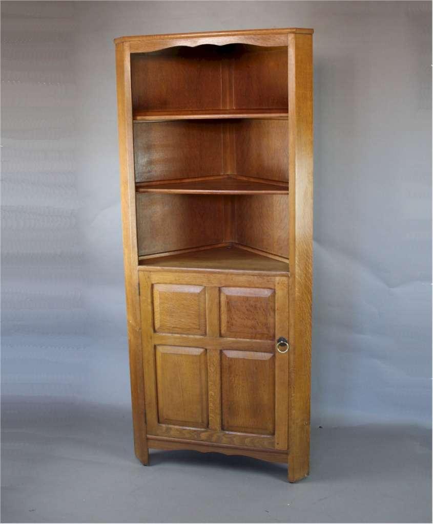 arts and crafts corner cupboard by reynolds in golden oak. Black Bedroom Furniture Sets. Home Design Ideas