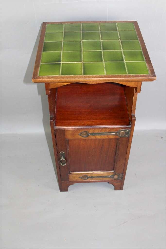 shapland and petter arts and crafts bedside cabinet. Black Bedroom Furniture Sets. Home Design Ideas
