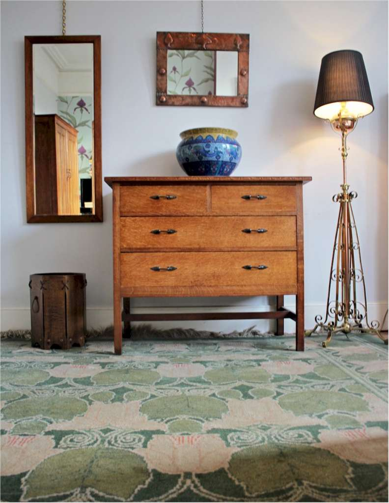 Arts and crafts bedroom furniture by arthur simpson and for Arts and crafts bedroom